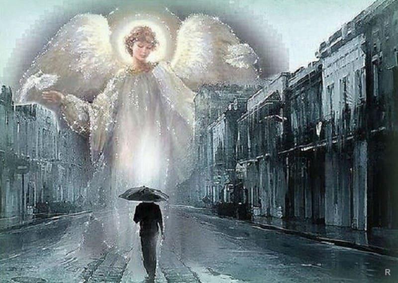 Изображение человек и ангел