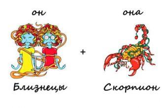 Фото близнецы и скорпион_главная